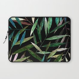 Color Bamboo Leaves at Night Laptop Sleeve