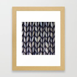 Braided Framed Art Print