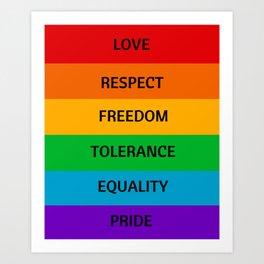 LGBT PRIDE Art Print