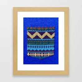 Blue Pocket Design Framed Art Print
