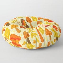 Spring Mushroom Print Floor Pillow