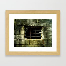 The Gradual Death Of Confinement Behind Bars Framed Art Print