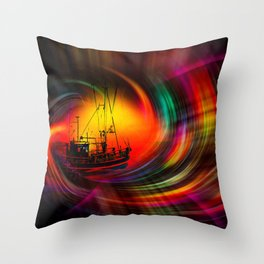 Time Tunnel 3 Throw Pillow