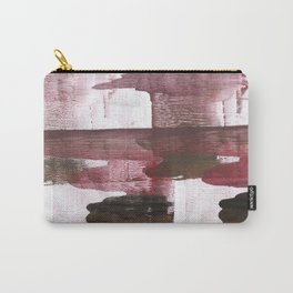 Red Black clouded watercolor texture Carry-All Pouch