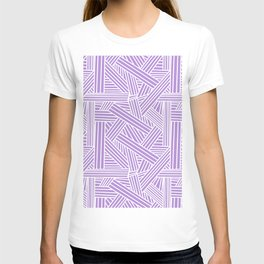 Sketchy Abstract (White & Lavender Pattern) T-shirt