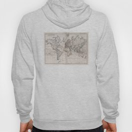 Vintage Map of The World (1856) Hoody