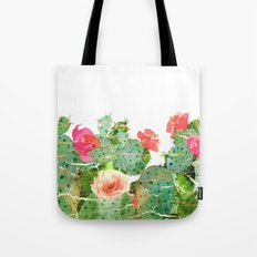 scratched cactus Tote Bag