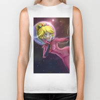 princess peach Biker Tanks featuring Princess Peach by Luiz Raffaello de Negreiros