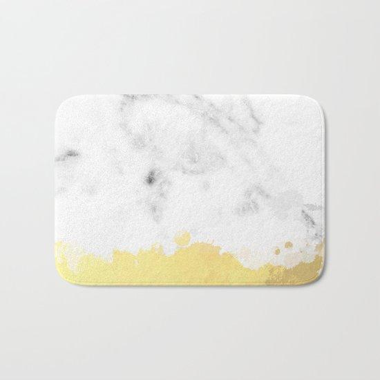 Gold spill on marble Bath Mat
