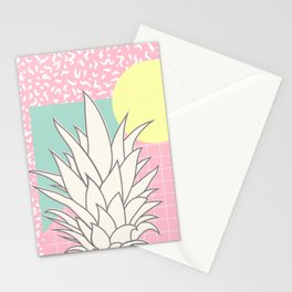 Memphis Pineapple Top Stationery Cards