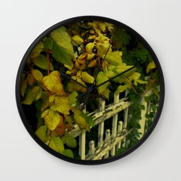 OLD FENCES COLOR Wall Clock
