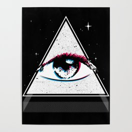 All Seeing Eye Illuminati Poster