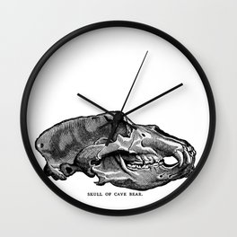 Cave Bear Skull Wall Clock