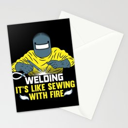 Welding: It's like Sewing with Fire Stationery Cards