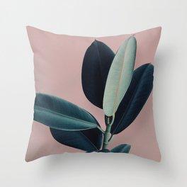 Ficus elastica - berry Throw Pillow