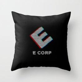 E-corp binary - mr. robot Throw Pillow
