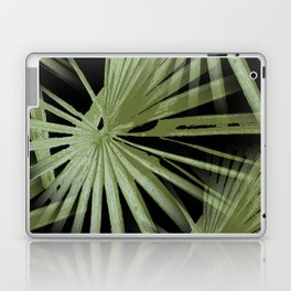Green On Black Tropical Vibes Beach Palmtree Vector Laptop & iPad Skin