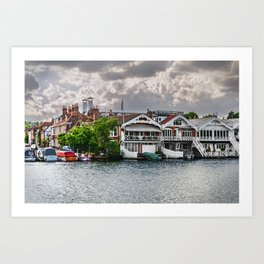 Boathouses At Henley on Thames Art Print