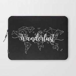 Wanderlust geometric world map Laptop Sleeve