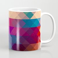 triangle Mugs featuring TRIANGLE by Hands in the Sky