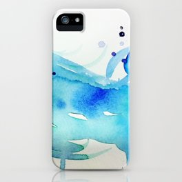 Watercolor Waves iPhone Case