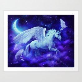 pegasus in the stars Art Print