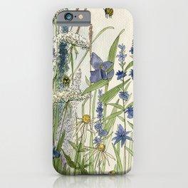 Wildflowers 2 watercolor iPhone Case