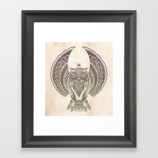 Silent Flight (Owl Wings) Framed Art Print