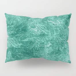 Lucite Green Oil Painting Color Accent Pillow Sham