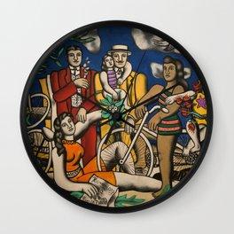 Paris, France Centre Pompidou family and friends portrait by Fernand Leger Wall Clock