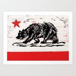 bear flag Art Print