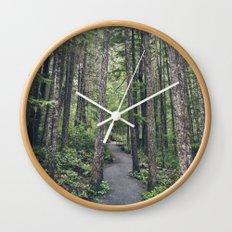 A walk through the trees Wall Clock