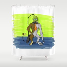 Stpd Mnky Shower Curtain