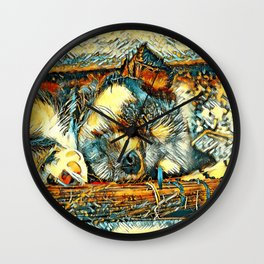 AnimalArt_Dog_20170906_by_JAMColorsSpecial Wall Clock