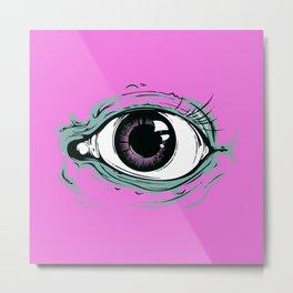"""I See You"" Pink Pattern Metal Print"