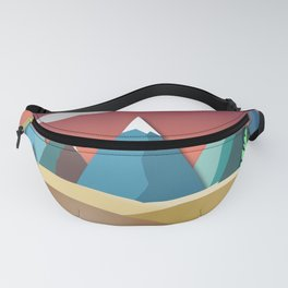 Mountain Landscape 2D Fanny Pack