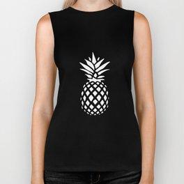 Pineapple pattern on pink 022 Biker Tank