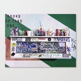Trashing Art Canvas Print