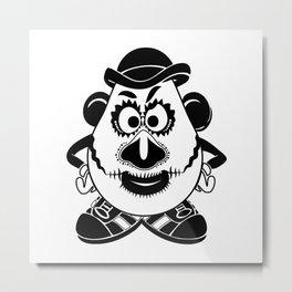 Mr. Potato Head Sugar Skulled! Metal Print