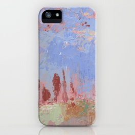 Standing Stone Circle in Pastels iPhone Case