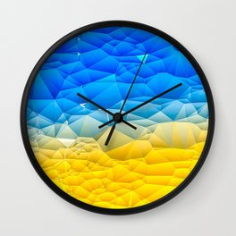 Sunshine and Blue Sky Quilted Abstract Wall Clock