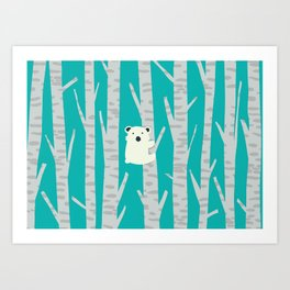 Lonesome Koala Art Print