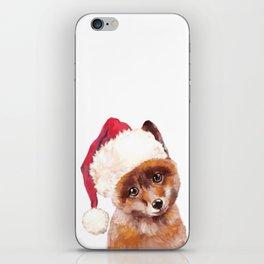 Christmas Baby Fox iPhone Skin