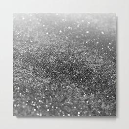 Silver Gray Black Glitter #2 (Faux Glitter - Photography) #shiny #decor #art #society6 Metal Print