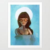 daria Art Prints featuring Daria by gapinska