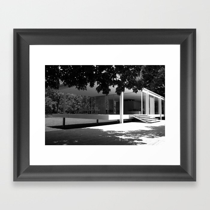 farnsworth house Gerahmter Kunstdruck