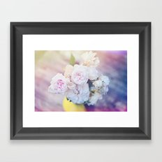 The Last Days of Spring - Old Roses III Framed Art Print