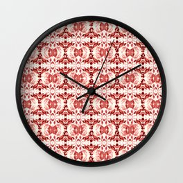 CORAL ABSTRACT LEAVES Wall Clock