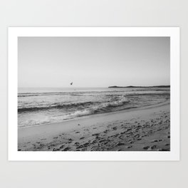 HALF MOON BAY VI (B+W) Art Print