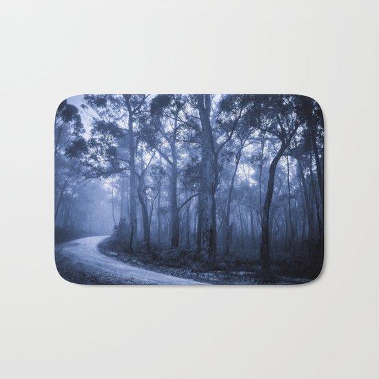 Dark Misty Road Bath Mat